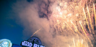 Fireworks starting the flag-off for the 5.4km category of the STAR WARS RUN Singapore 2018