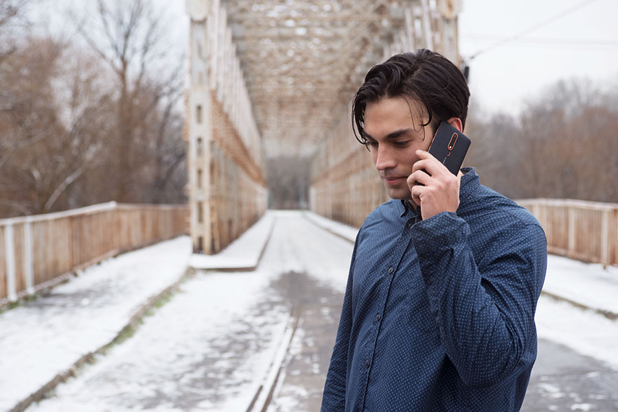 man using New Nokia 6