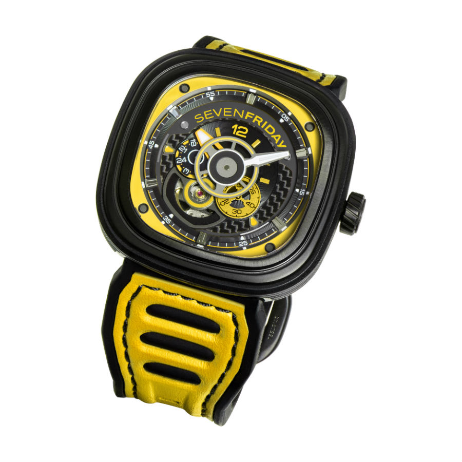 SEVENFRIDAY P3B/03 yellow front view