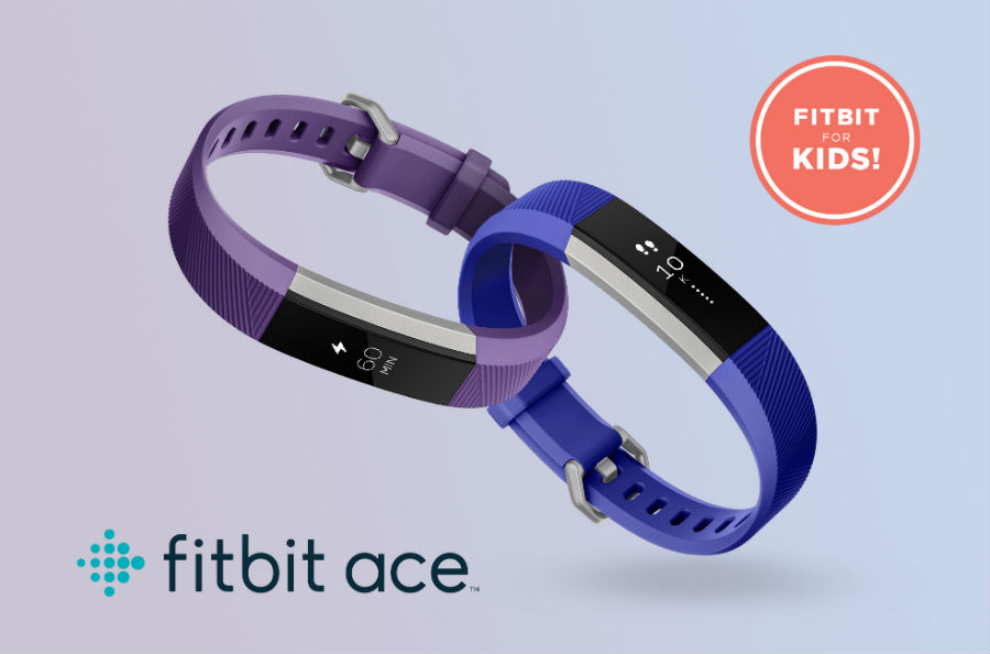 Fitbit Ace in power purple and electric blue