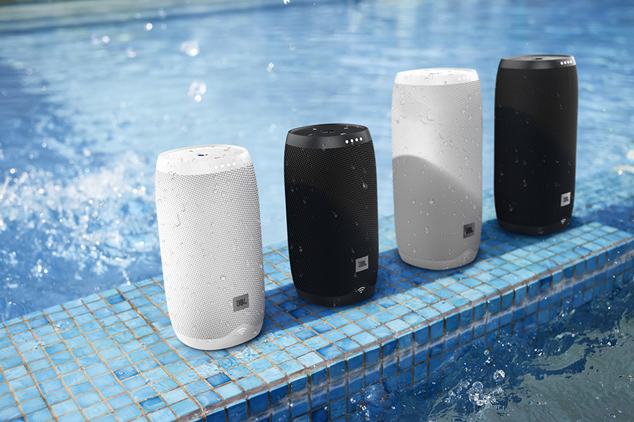 JBL Link by the pool