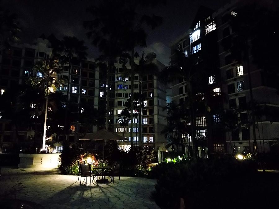 Night photo taken with the Nokia 7 Plus