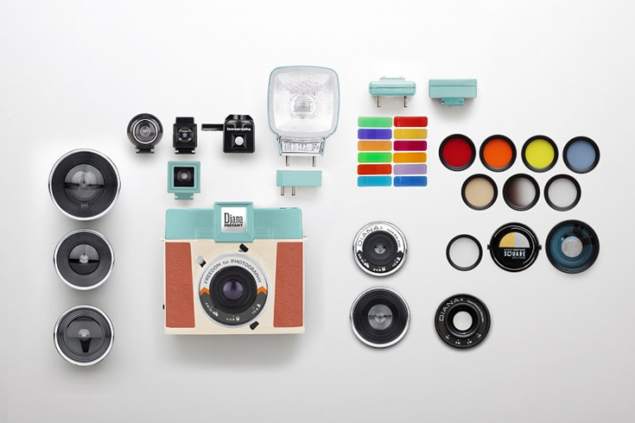 The Diana Instant Square and accessories