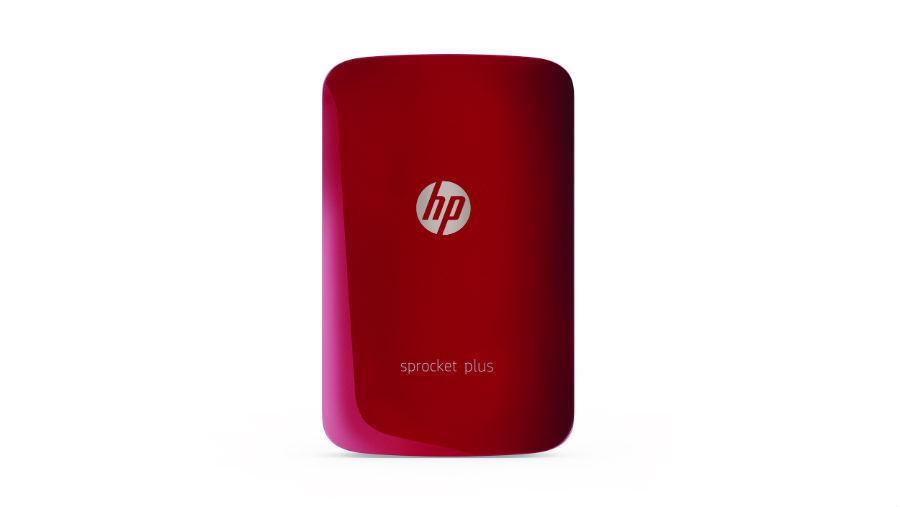 HP Sprocket Plus in red