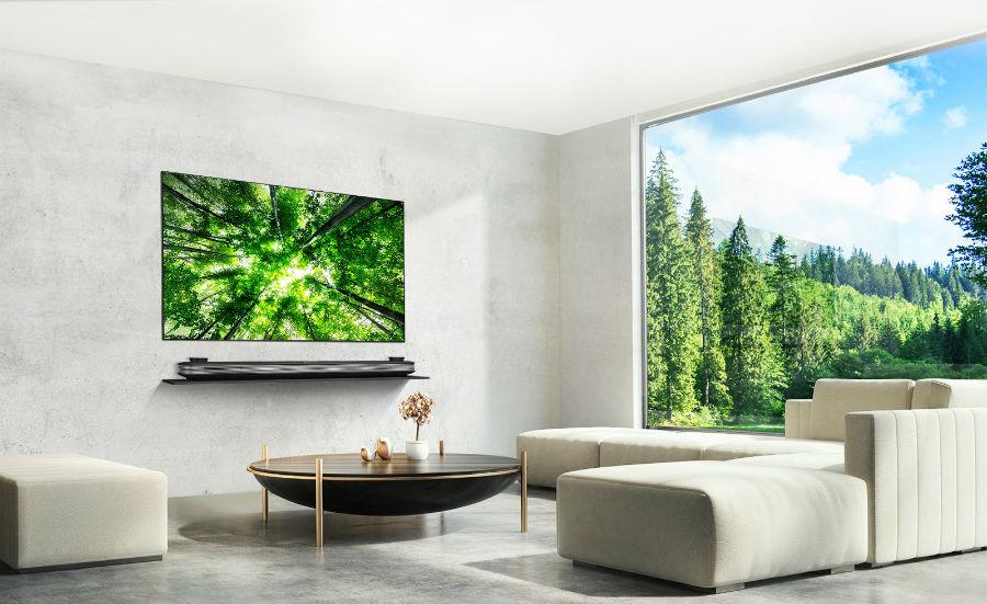 LG TV in living room