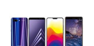 Honor 10, Nokia 7 Plus, Samsung Galaxy A8+, Vivo X21