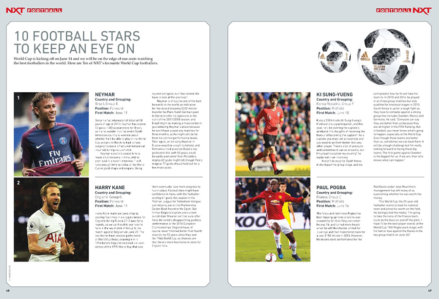 NXT June 2018 issue Football