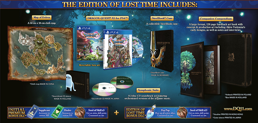 Dragon Quest XI Edition of Lost Time included items