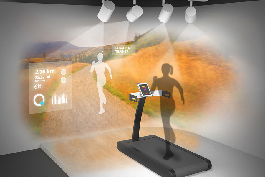 Epson projector displayed as a personal trainer
