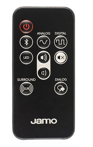 Jamo SB-36's remote control in black
