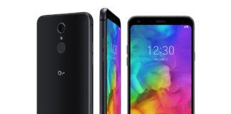 LG Q7+ in Aurora Black