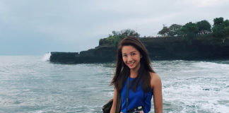 Vanessa in Bali, carrying an instax Square SQ6