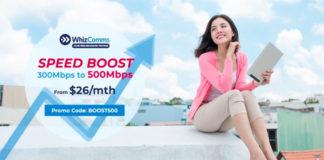 WhizComms broadband boost ad