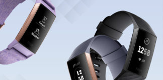 The Fitbit Charge 3 in their different colours