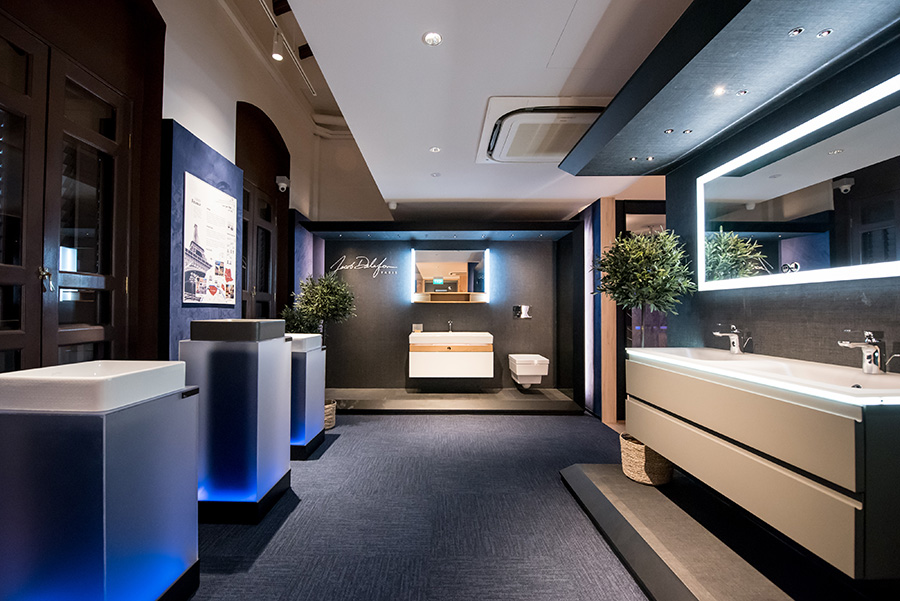 One of the showcases in the Kohler's Experience Center