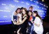 Actress Park Min Young taking a selfie with fans with a Samsung Galaxy Note9