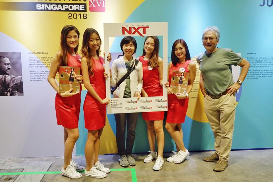 NXT Angels at Canon Photo Marathon XVI 2018 with Canon CEO and Senior Vice President