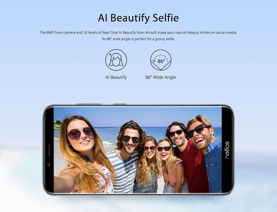 neffos X9 Selfie