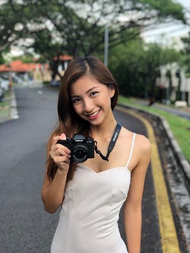 Portrait photo with the Fujifilm X-T100