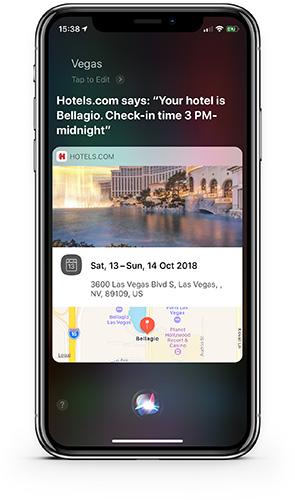 iPhone X Hotels.com Siri Shortcut