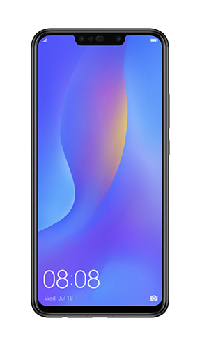 Front view of Huawei Nova 3i in Black