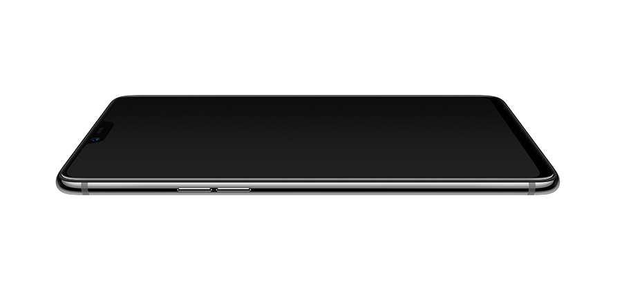 Side view of the OPPO R15 in Black