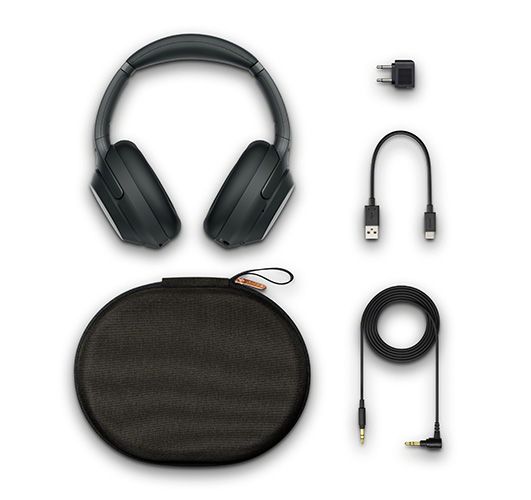Sony WH-1000XM3's packaging in Black