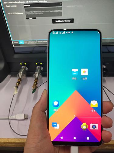 Vivo Nex showcasing its pre-commercial 5G smartphones