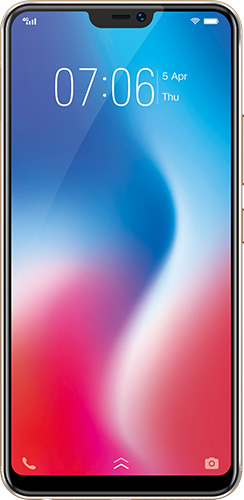 Front view of Vivo V9 in gold
