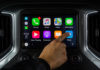The Waze CarPlay App in a Chevrolet Silverado