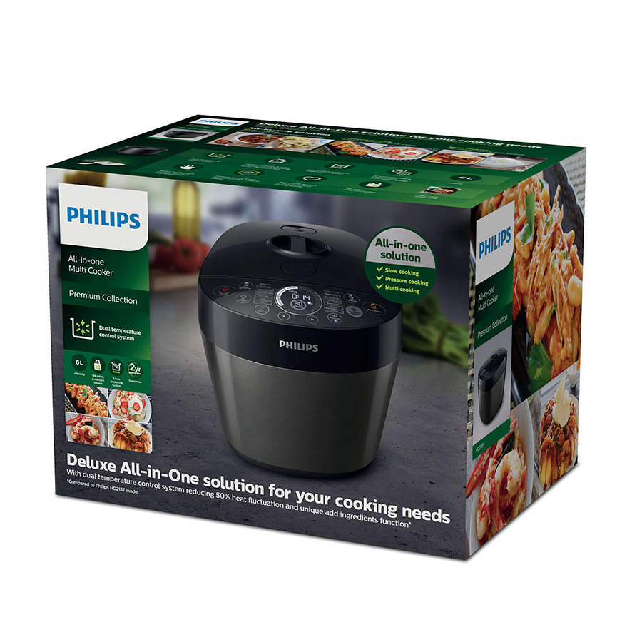 Box of the Philips Deluxe Collection Multicooker HD2145/62