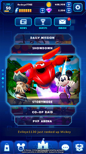 Game modes in Disney Epic Quest