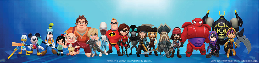 Disney Epic Quest lineup of characters