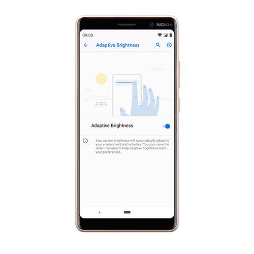 Nokia 7 Plus Android 9 Pie Adaptive Brightness