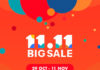 Shopee 11.11 Big Sale from 26th Oct to 11th Nov