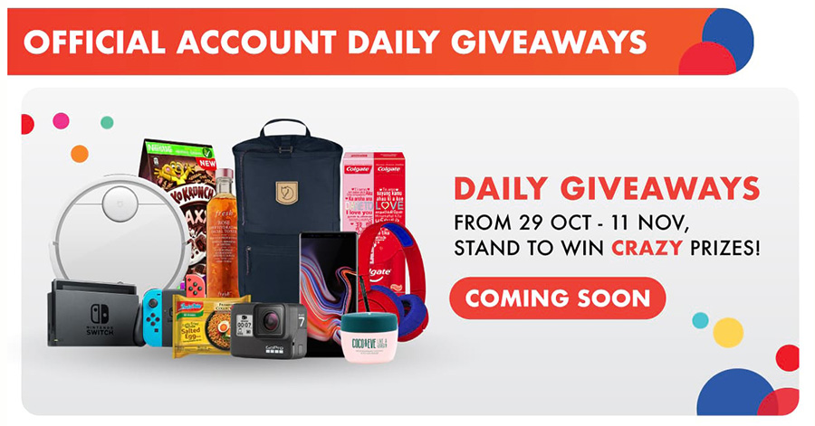 Shopee 11.11 sale's daily giveaway