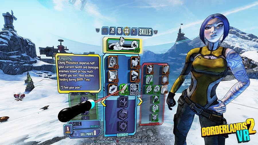 Special skills for Maya in in Borderlands 2 VR
