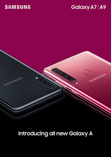 Samsung Galaxy A9 in Bubblegum Pink