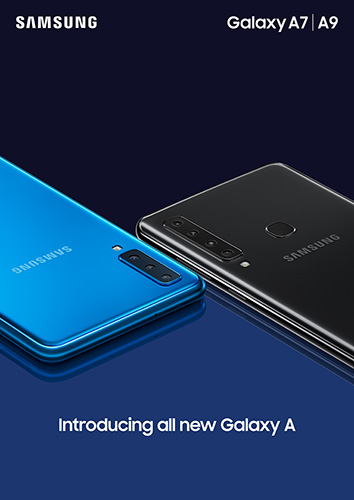 Samsung Galaxy A9 in Caviar Black