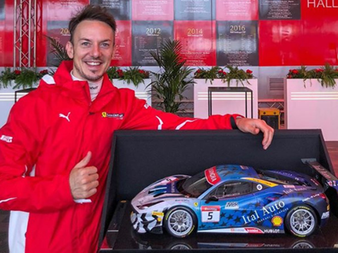 Martin Berry and a miniature of his car