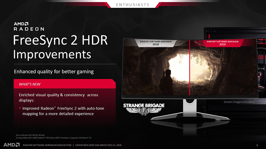 AMD Radeon Software Adrenalin 2019 Edition HDR Improvements