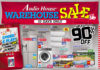 Audio House Warehouse Sale pamphlet