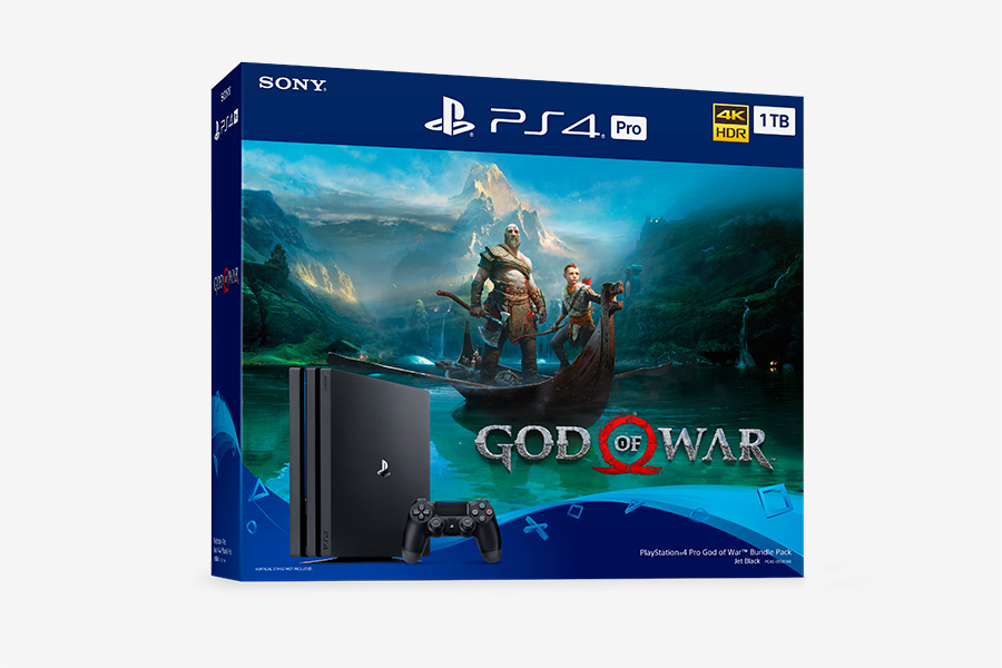 God of War Bundle for the PS4 and a PS4 Pro Jet Black 2TB model