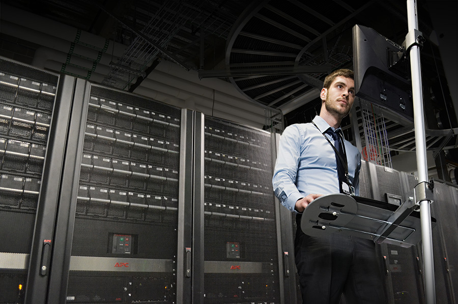 Monitoring the status of the server room