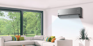 LG ArtCool Plus Air Conditioner in a room