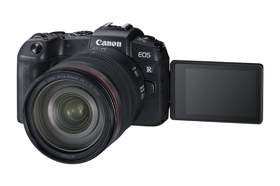 Canon EOS RP camera with the LED screen