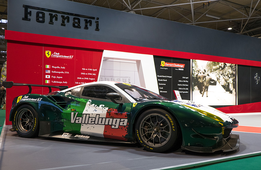 Ferrari GT model available for racing in the Competizioni GT Club
