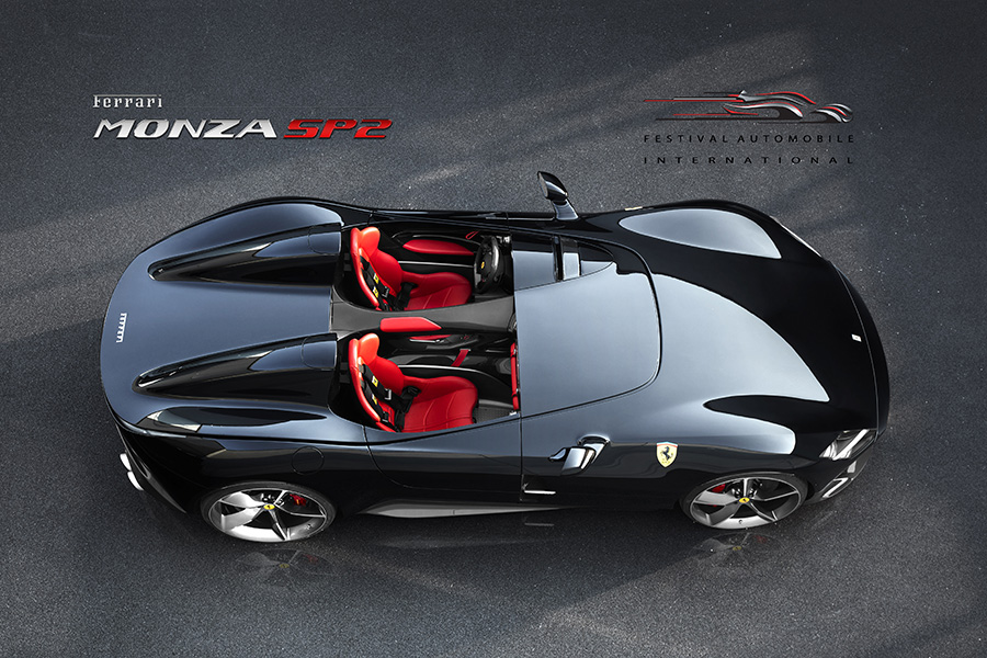 Top view of the Ferrari Monza SP2