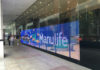 LG Color Transparent LED Film at Manulife Tower