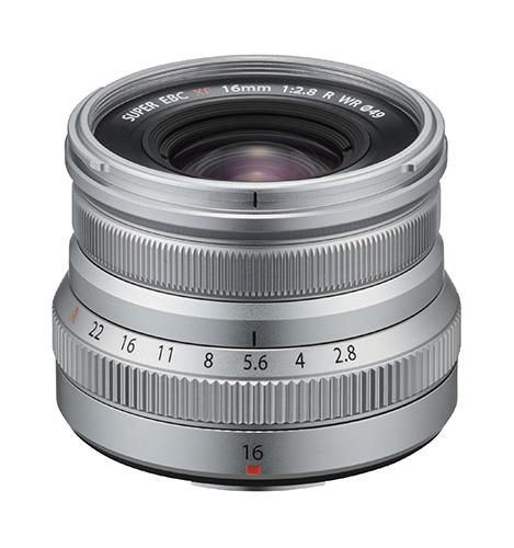 Fujinon Lens XF16mmF2.8 R WR in silver